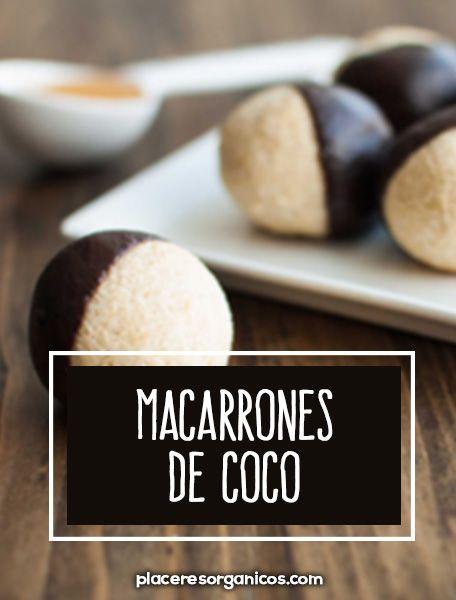 receta para preparar macarrones de coco