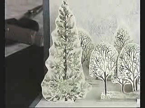 How to Craft a snowy wintery scene pop-up card for Christmas « Papercraft :: WonderHowTo