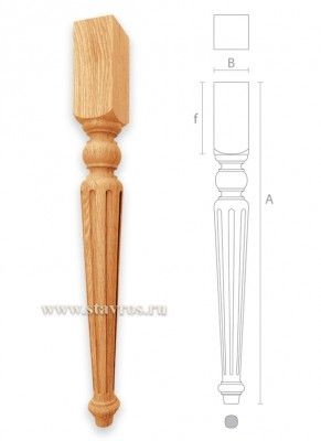 мебельная ножка с канелюрами для стола MN-031
