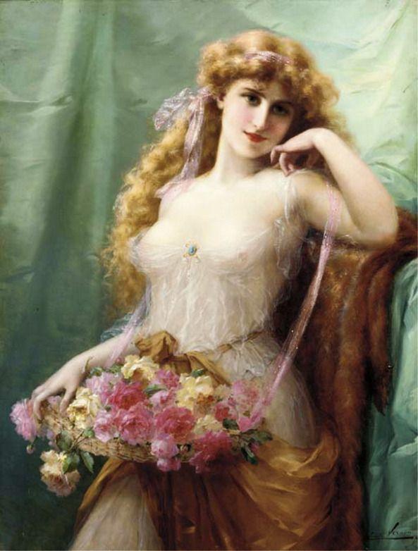 The Athenaeum - Basket of Roses (Emile Vernon - )