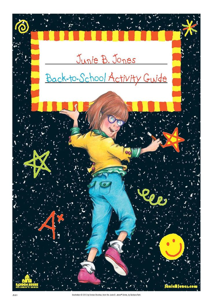 You're kids will go crazy for this Junie B. Jones Back to School Activity Kit
