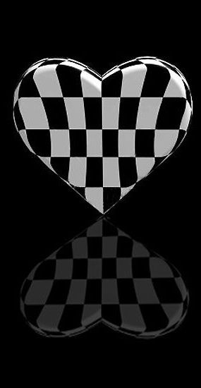 Black and white heart reflection.  For similar pins please follow me at -https://www.pinterest.com/annelouise1959/colour-me-monochrome-black-and-white/