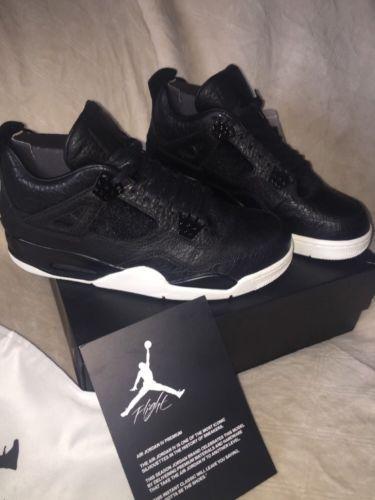8de01816a72 ... Nike Air Jordan IV 4 Retro Premium BLACK PINNACLE SZ 11.5 Pony Hair OVO  Cement ...