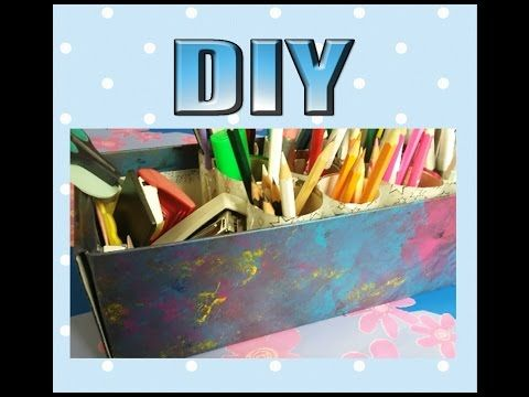 Kendin Yap- Kalem Organizer / DIY- Pencil Organizer - YouTube