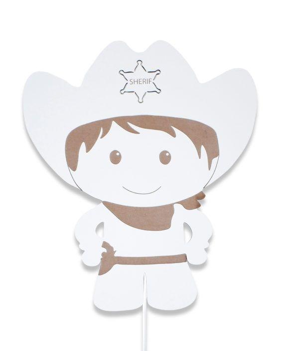 Cowboy lampe, lampe til børn, lampe til børneværelset, lampe i træ