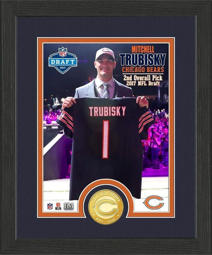 Mitchell Trubisky Draft Day Photo Mint Chicago Bears 1st Pick 2017 NFL Draft   Sports Mem, Cards & Fan Shop, Fan Apparel & Souvenirs, Football-NFL   eBay!