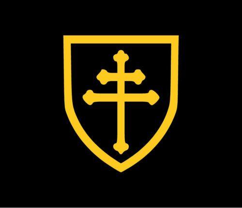 CROSS-OF-LORRAINE-Decal-Car-Window-Bumper-Sticker-Knights-Templar-Freemasons