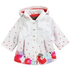 White Raincoat | Jean Bourget | Designer Kids Clothes