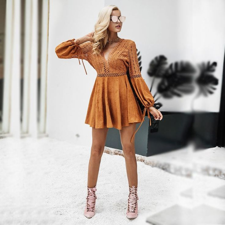 """""""Tan Playsuit Summy"""" The sleeves can be let loose or tightened up!  Only here at SmashShop link in BIO!  #partystyle #uniquelook #trendylook #sexydresses #promdresses #smashshops"""