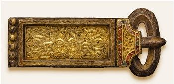 Angelsaksische gesp uit eerste helft 7e eeuw.