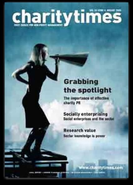 One of the only charity magazines which I could find online