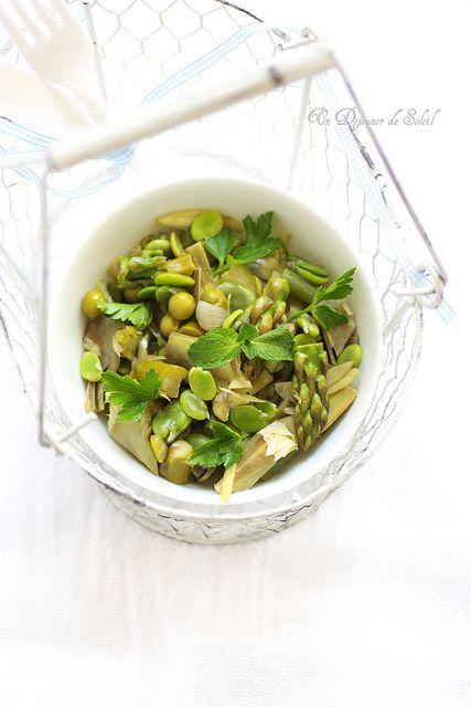 Vignarola: cocotte de légumes du printemps (fèves, artichauts, asperges...) typique de Rome - The magic spring vegetables, all together