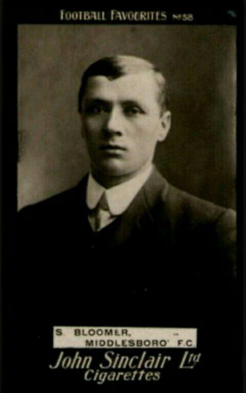 Steve Bloomer of Middlesbrough in 1905.