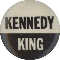1968 Robert Kennedy & Martin Luther King Campaign Button