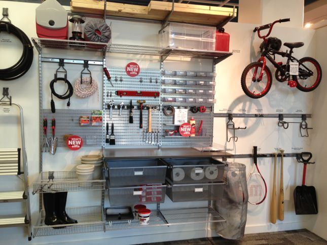 container store elfa garage system