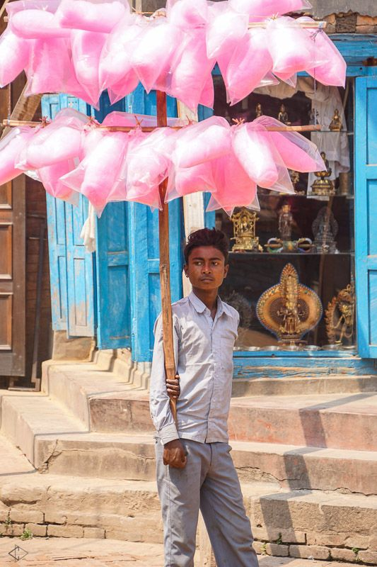 Cotton Candy in Darbar Square, Kathmandu. Captured by a Ventours Guest!