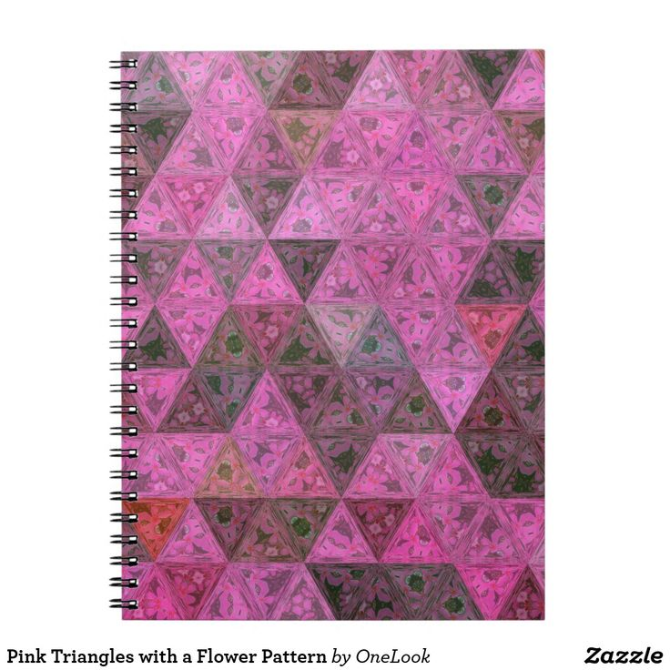 Pink Triangles with a Flower Pattern