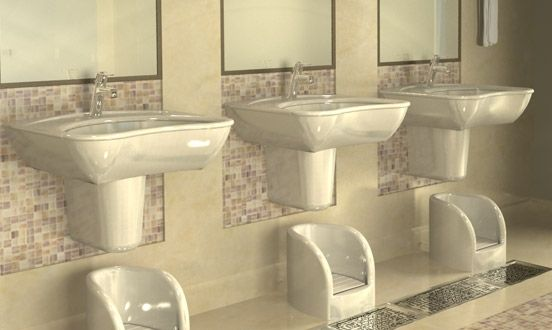 wudu basin    which gives more convenient when we take
