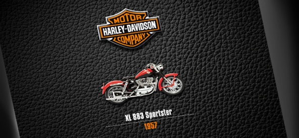 Cover design for the official Harley Davidson Book