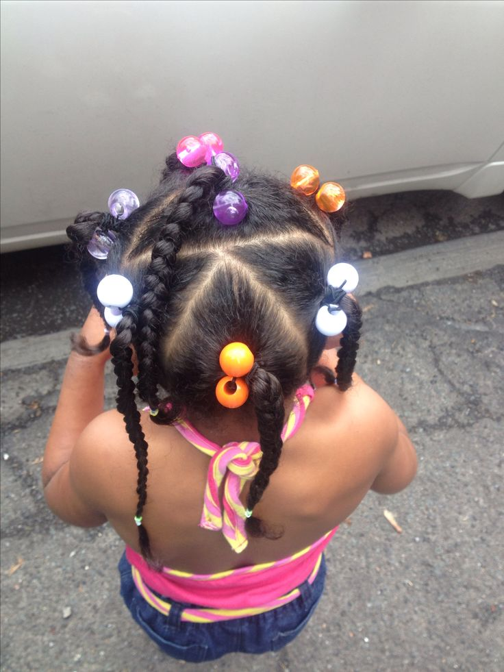 Mixed kids hairstyle