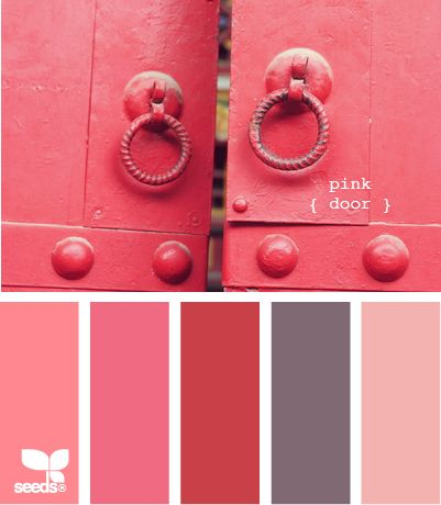pink door... it's been awhile since I paid attention to Design-Seeds. This pink is not pretty enuff for my pink Pinterest Board.