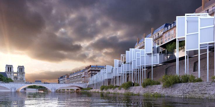 Galería - MenoMenoPiu propone hotel cápsula para turistas en París - 1