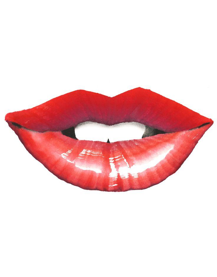 VIVID RED3 #lip #OHGUSHI #Fashion_illustration  #Cosmetic #watercolor #japanese_ink #Bijinga #水墨画 #美人画