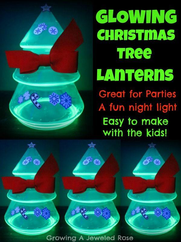 DIY Christmas Tree Lanterns- a simple and fun holiday activity
