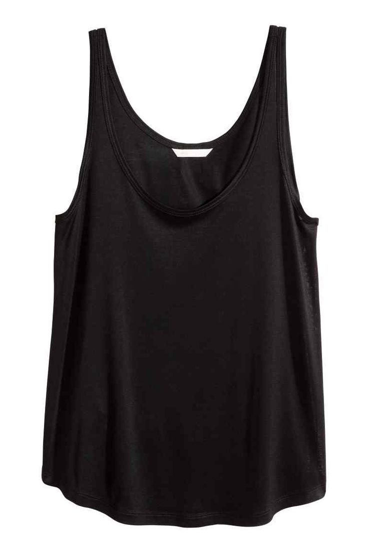 Dżersejowa koszulka - Czarny - ONA | H&M PL