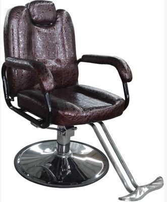 שיער חם כורסא מספרה סלון. ספרות כיסא. לשים למטה סיבוב כיסא יכול להיות הרמת שוכב תער.