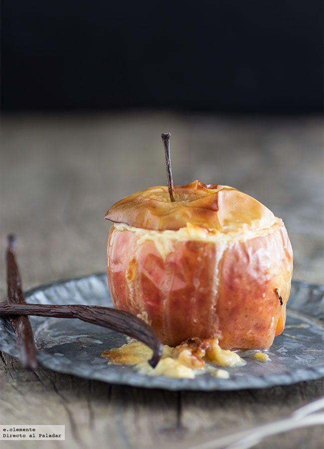 Manzanas rellenas de arroz con leche. Receta