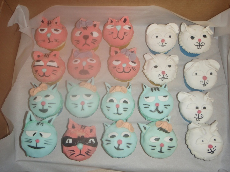cupcake cats and bunnies for the SPCA