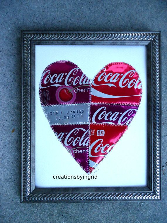 10 Year Anniversary Gift, HEART, Personalized Names, 10 ...