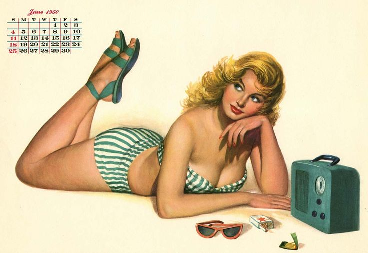Al Moore [1950 calendar for Esquire]