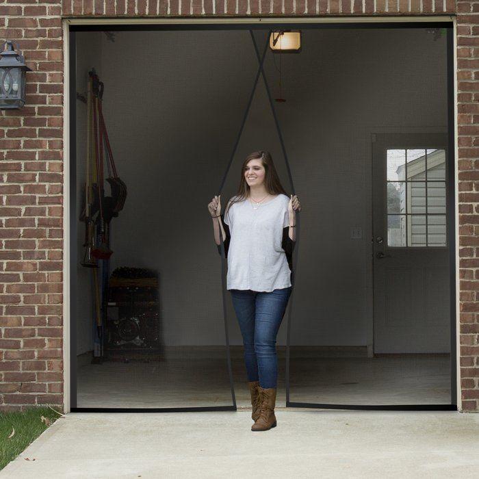 2 Piece One Car Garage Screen Door Set Garage Screen Door Garage Door Design Garage Doors