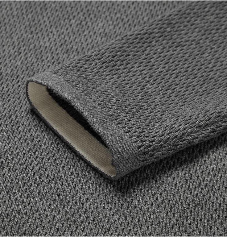Theory - Savaro Textured Knitted Cotton Sweater