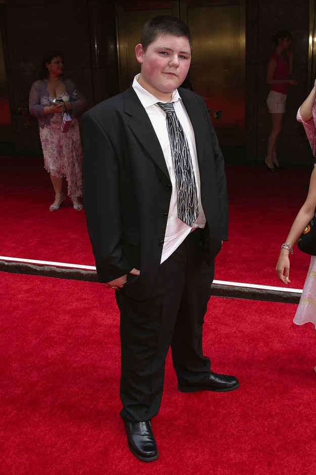 """Tom's fellow Slytherin, Jamie Waylett (aka Crabbe) gave the camera a sinister stare.   23 Bewitching Photos From The """"Harry Potter And The Prisoner Of Azkaban"""" Premiere"""