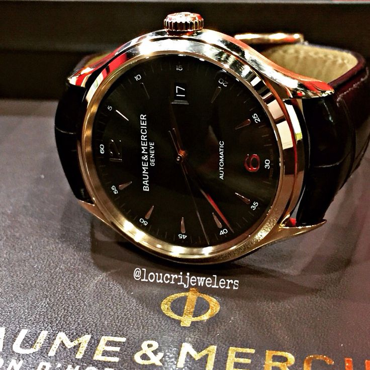 Baume & Mercier Clifton 18K Solid Rose  Gold   Watch ‼️ Contact Loucri Jewelers for this and other Luxury Time Pieces. Email  sales@loucri.com or call ☎️☎️ 516 960 7757‼️