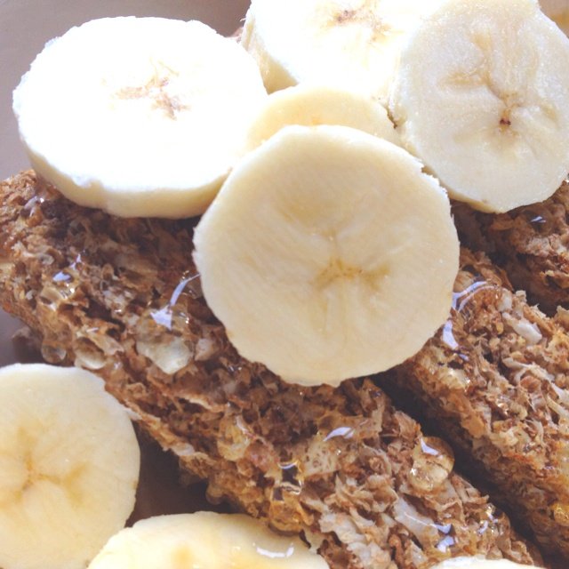 Weetabix with acacia honey, banana and soy milk  Breakfast bliss