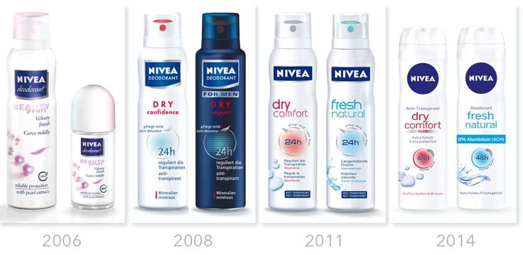 NIVEA Deo Packaging Design Historie justblue.design