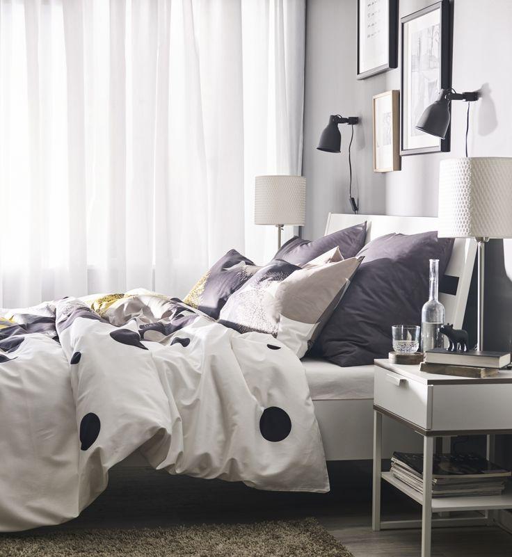 TRYSIL nachtkastje | #IKEAcatalogus #nieuw #2017 #IKEA #IKEAnl #bed #slaapkamer #dekbed #kussen #lamp #led #kast