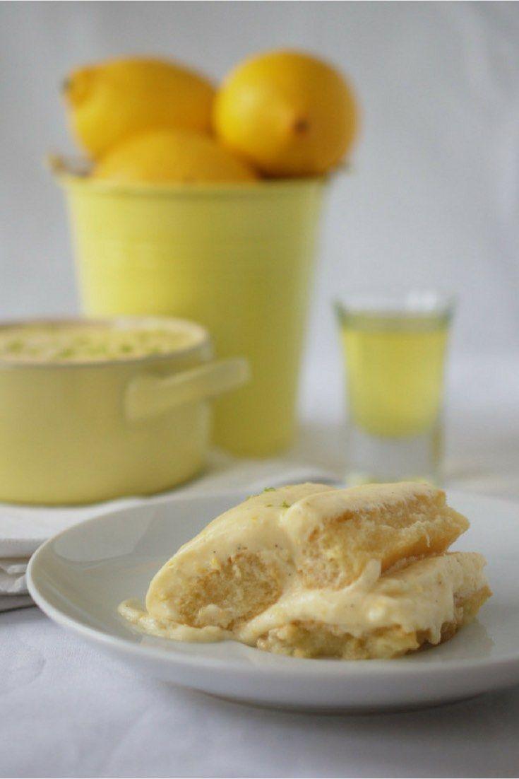 Sensations fraîcheurs avec cette recette de tiramisu au citron allégée grâce à la substitution de la mascarpone traditionnelle avec de la ricotta bufflone. Un délice! via @https://www.pinterest.com/nathaliebakes/