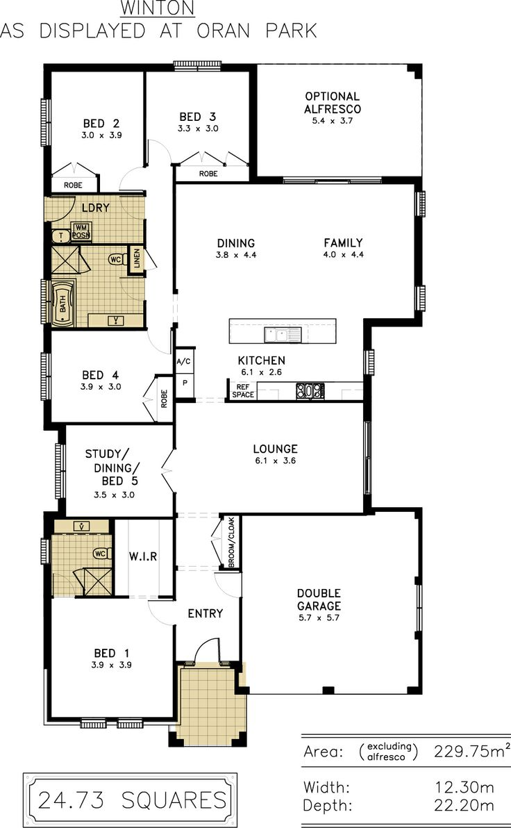 Winton - 4 bedroom, study, alfresco  #floor plans #home