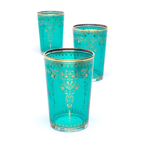 morrocan tea glasses so pretty