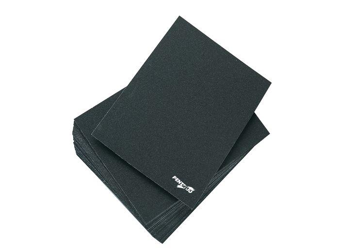 Hoja tela esmeril - Ideal para el lijado y pulido de superficies metálicas y acero / www.pentrilo.com / Emery Polishing Paper - For grinding and polishing metal and steel surfaces ---- (Ref. 09151, 09153, 09154, 09155, 09157)