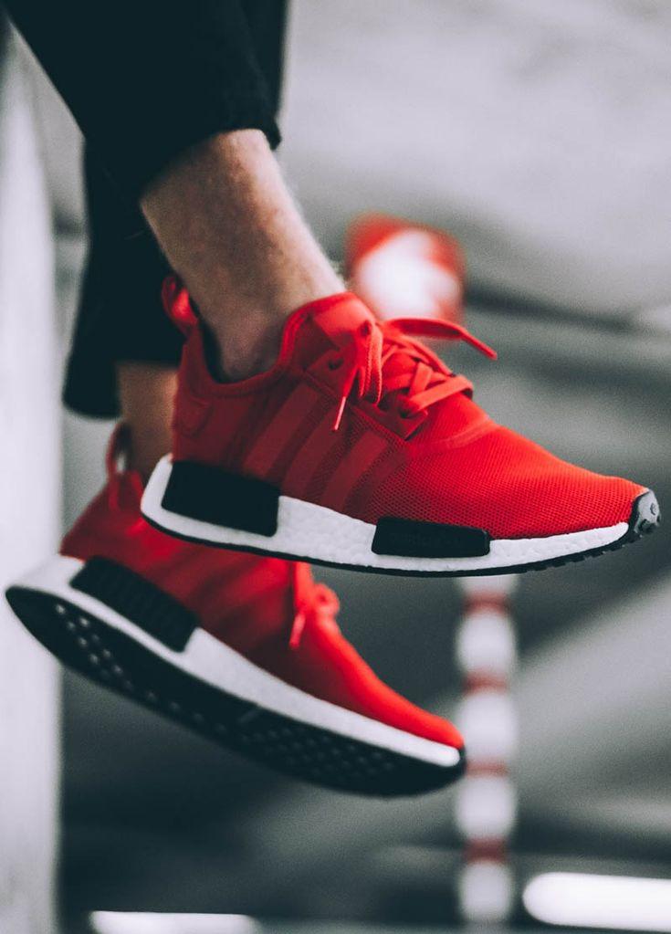 Adidas NMD R1 Red × White × Black
