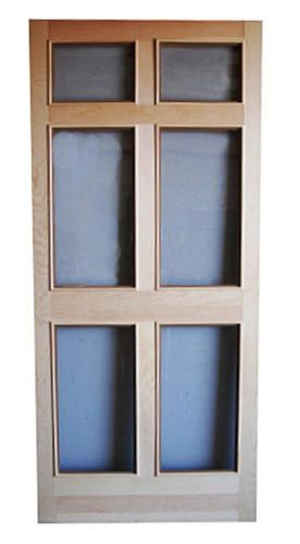 Regal T-Bar Wood Swinging 6-Panel Glass Storm Door 36...I think this would coordinate with the 6 panel dutch door we are getting for the front