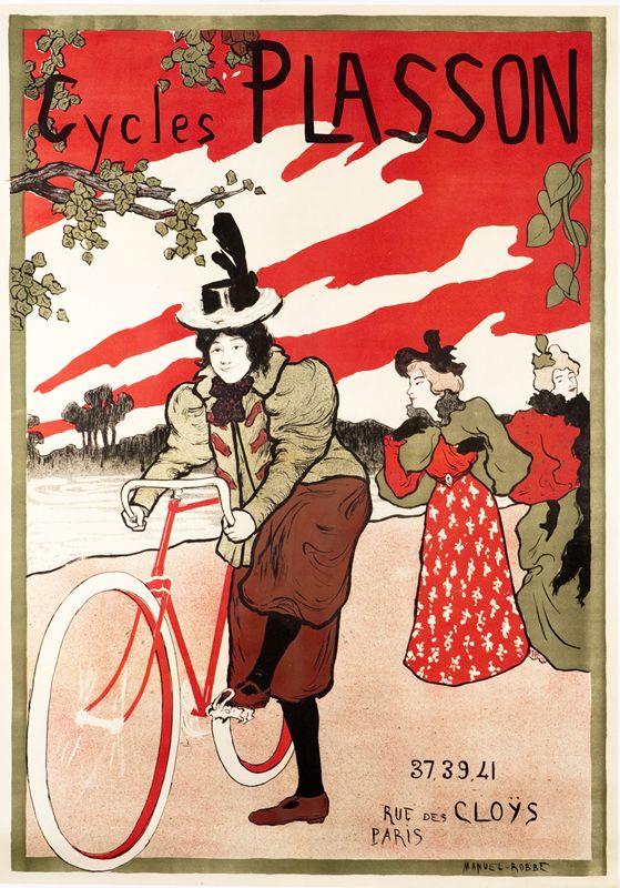 Cycles Plasson (women) by Robbe, Manuel (1872-1936) | Shop original vintage #artnouveau posters online: www.internationalposter.com