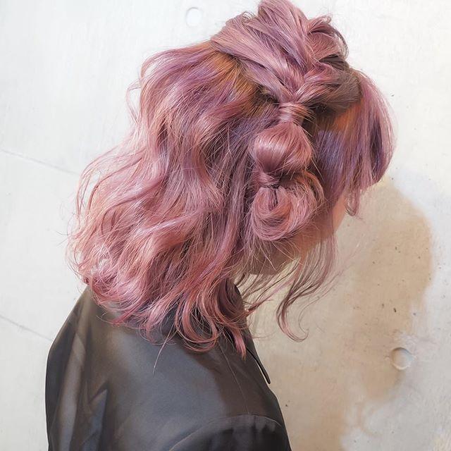 #mulpix ......my works with  @aaannna21 works...... お客様〜  #shachu #hair #color #ヘアカラー #グラデーションカラー #ピンクヴェール #ピンクアッシュ #ピンク #モリさんカラー #アンさんアレンジ #簡単アレンジ #ヘアアレンジ #卒業式 #卒業式ヘア #卒業式ヘアカラー #のご予約ご相談はお早めに