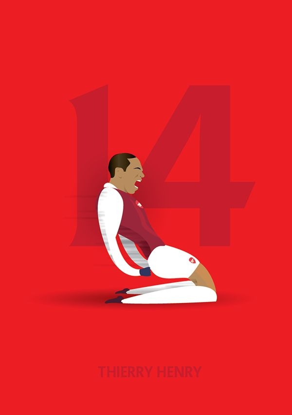 Thierry Henry - Arsenal - Football Greats on Behance